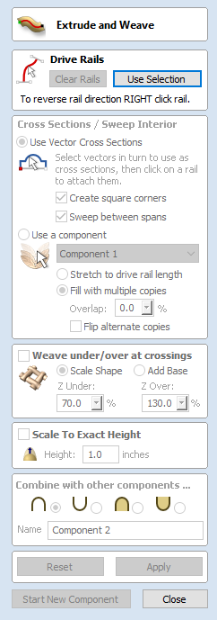 Extrude and Weave - Aspire V9 0 User Manual