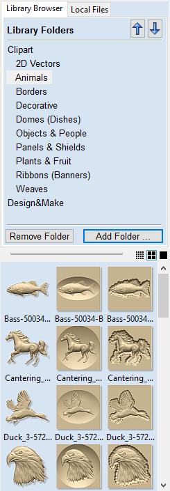 The 3D Clipart Tab - VCarve Pro V9 0 User Manual