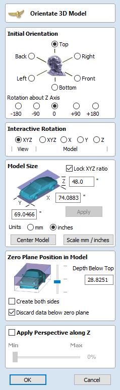 Import a Component or 3D Model - VCarve Pro V9 0 User Manual